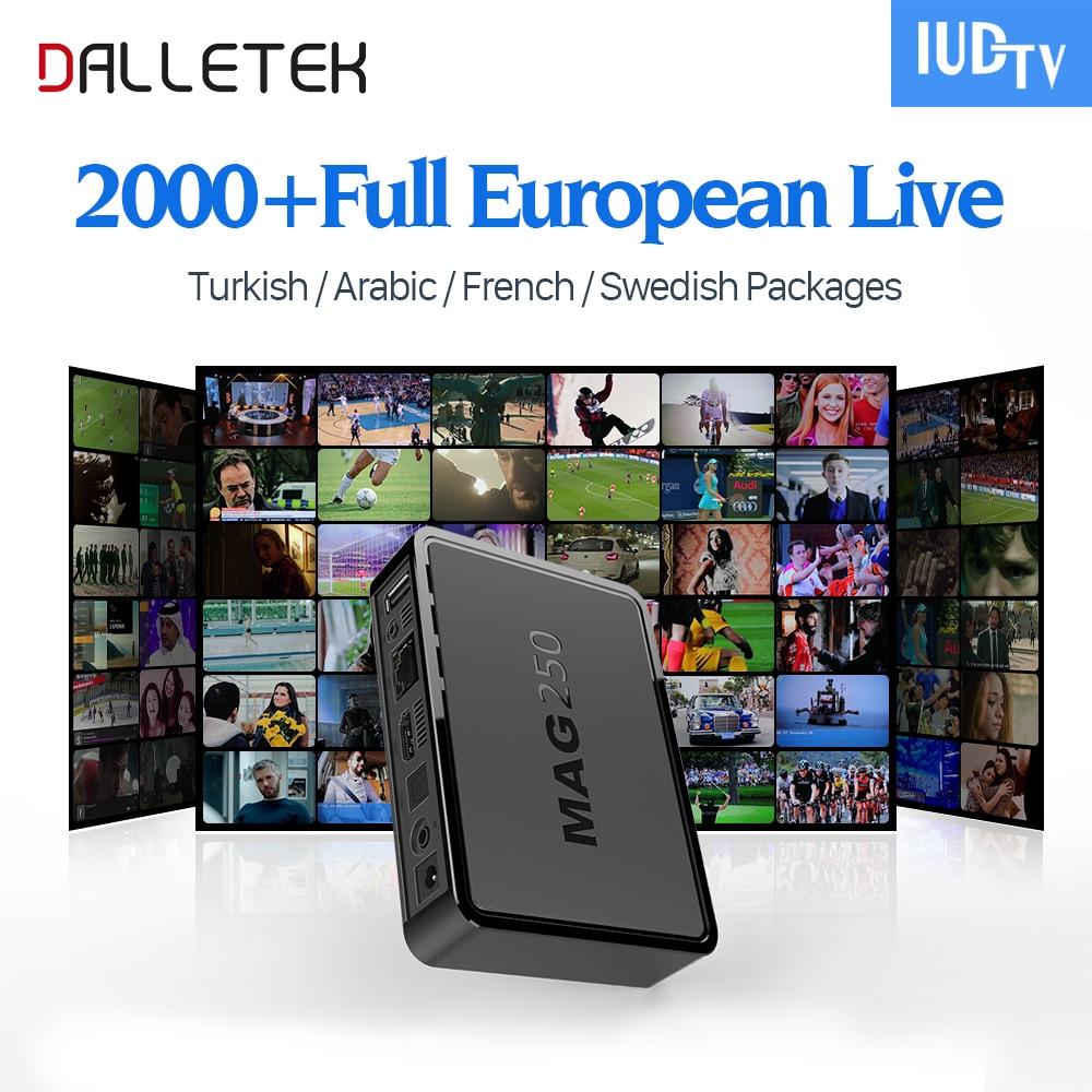 Dalletektv Mag250 IPTV Set Top Box IUDTV Code Europe Arabic IPTV Subscription Sweden French Germany IPTV Channels TV Box 5 mode drop in module w cree q5 led 3 6v 7 2v input