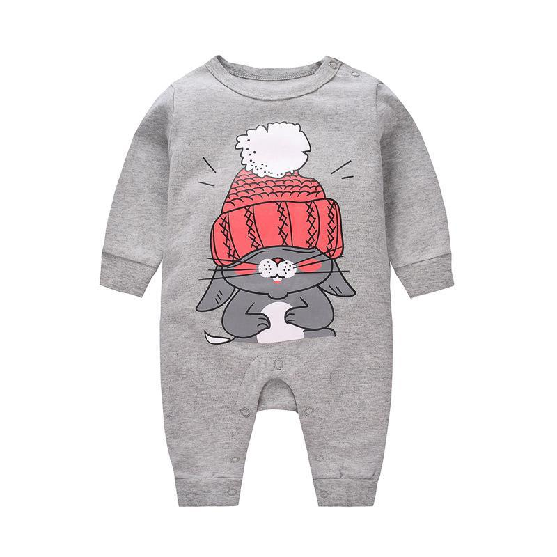 2018 Baby girls Clothes cute Cartoon Newborn girls Long Sleeve  baby Rompers baby Boys Clothes roupas de  infantil costumes 1