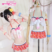Customize LoveLive! Love Live Cosplay Nico Yazawa Costume Anime Cosplay Costume Bikini Swim Wear Suit Halloween Show Dress Set