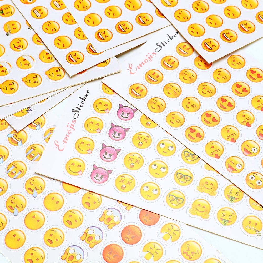 12 Sheets/pack Cute Mini Funny Expression Pvc Transparent Korean Stickers Papers Flakes Kids Decorative For Cards Stationery