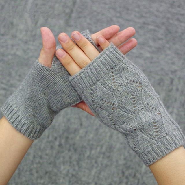 3a3818547502b 100% Cashmere Knitted Fingerless Gloves Women Winter Mittens Lovers Autumn  Keyboard Men's Gloves Unisex Mittens Ladies Gloves