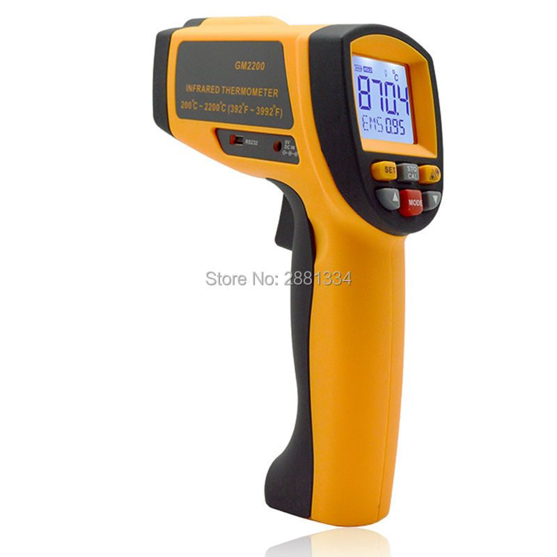 Handheld Infrared IR Thermometer GM2200 Temperature Range 200~2200 C 0.1 To 1.00 Adjustable Temperature Meter Tester (2)