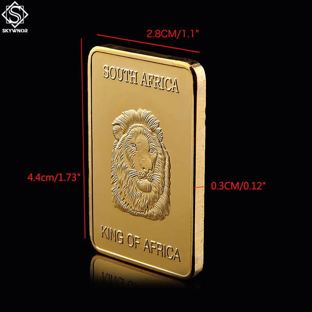 Us 1242 29 Off5pcs 1967 South Africa Wildlife King Of Animal Lion Fyngoud Fine Gold Coin 100 Mills Thick In Gold Bullion Bar Collection In