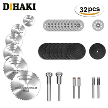 32pcs HSS Mini Circular Saw Blade Set Resin Cut-Off Wheels Diamond Cutting Discs Rotary Tool Accessories for dremel Wood Plastic