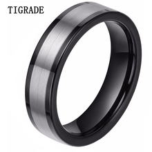 Women Men Brush Silver Black Mix Tungsten Ring High Quality Lose Money Promotion Fast Delivery