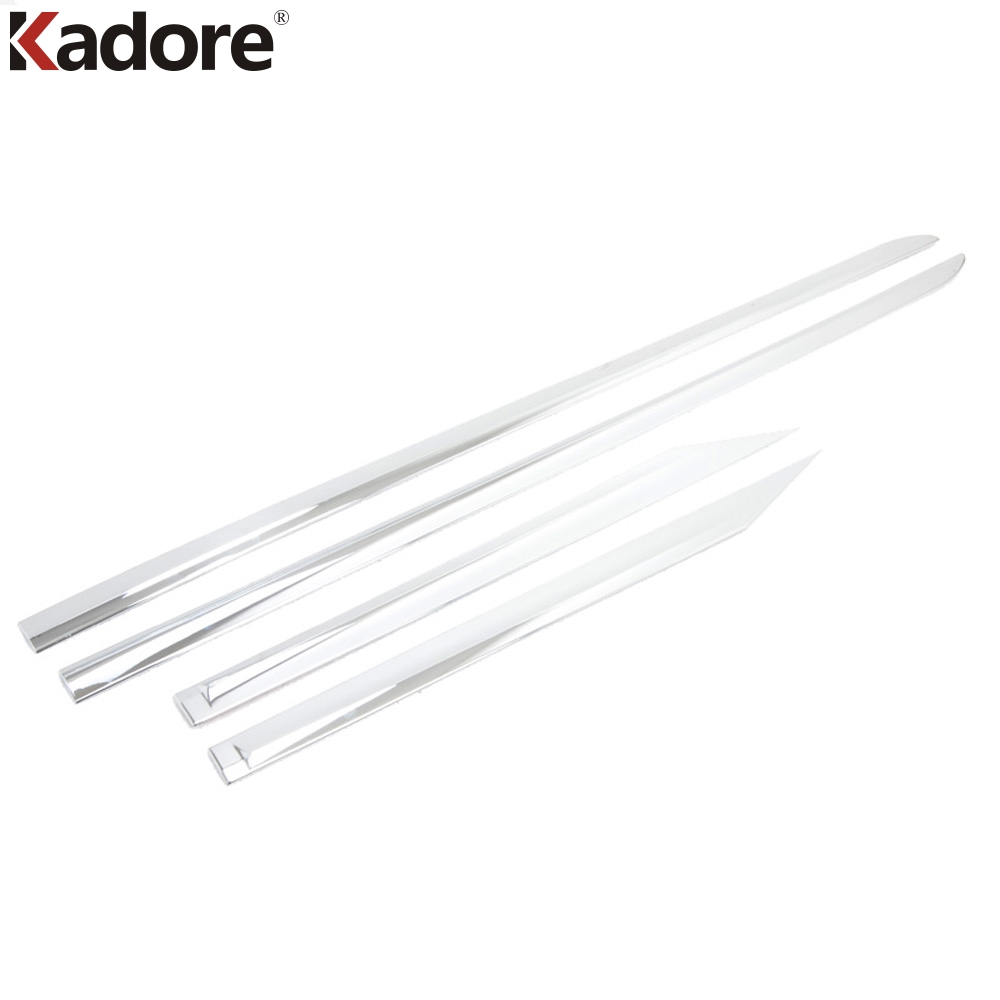 For Toyota Prius 2016 2017 ABS Chrome Side Door Body Molding Cover Trim Door Sill Body Strips Streamer Decoration Protector 4Pcs 4pcs stainless steel side door body molding cover trim for bmw x5 f15 2014 2015 car accessories