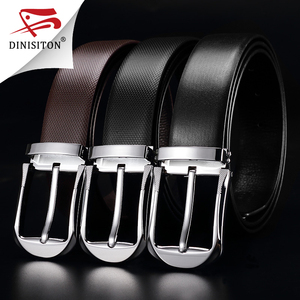 Image 2 - DINISITON High Quality First Layer Belt Cow Genuine Leather Belts For Men Business Pin Buckle Designer Strap Male Cinto PX217