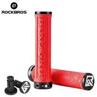 ROCKBROS TPR Rubber Bike Grips Bicycle Handlebar Mtb Grips Soft 3D Anti-skid Lock On Handle Bar Cycling Parts Bike Accessories