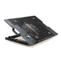 Soporte externo USB Dual LED Azul Cooling Pad Notebook Cooler Laptop Cooling Pad Portátil de Alta Calidad Para 9-17 pulgadas Notebook PC