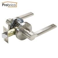 Probrico Passage Keyless Door Lock DL1637SNPS Stainless Steel Brushed Nickel Door Knobs Door Handles For Interior Doors