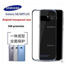 Оригинальный Samsung ультра тонкий чехол для Samsung Galaxy S8 S8 Plus силиконовый чехол протектор ТПУ прозрачный 6 цветов EF-QG955CFEGIN