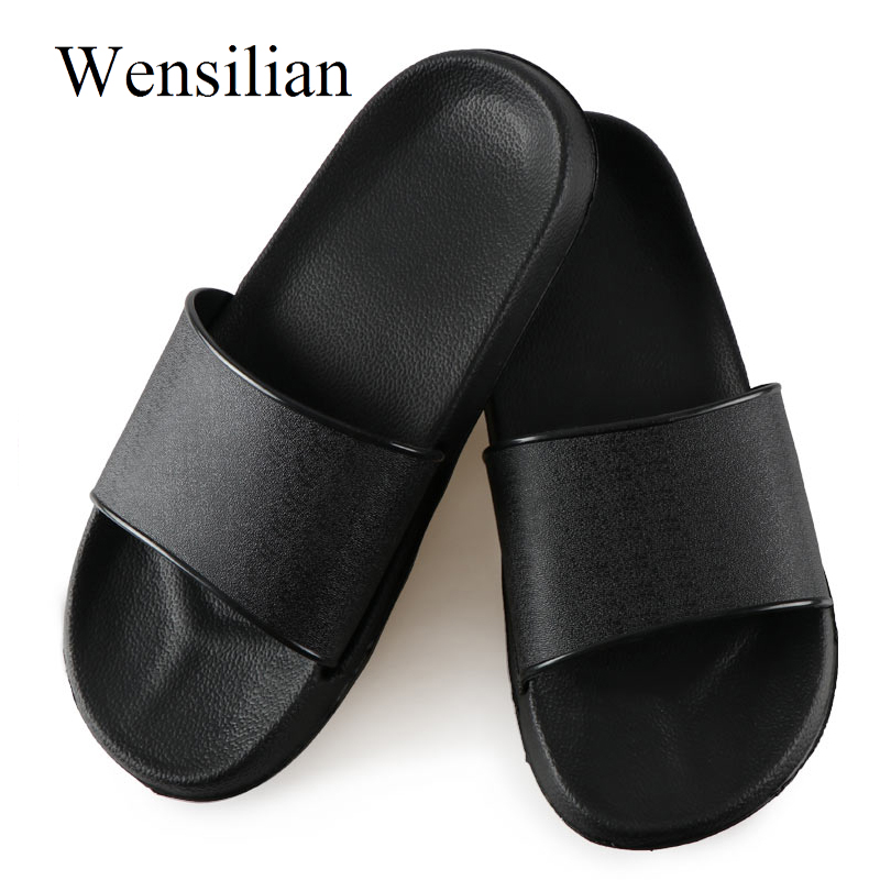 Detail Feedback Questions about Slippers Women Summer Ladies Slides Flats  Sandals Indoor Slippers Female Anti slip Beach Shoes Soft Zapatos Mujer  Plus Size ... fc21197de36d