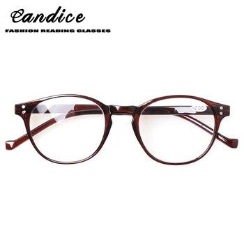 2262c21243 Henotin redondo de moda gafas de lectura bisagras de primavera de los  hombres y las mujeres los lectores gafas dioptrías 0,5, 1,75, 2,0, 3,0, 4,0  .
