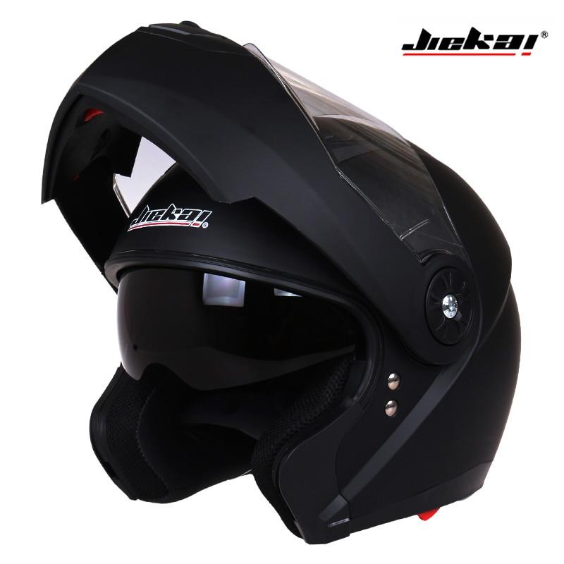 Classic Dual Visor Motorcycle helmet JIEKAI 115 model flip up motorbike helmet DOT approved Safety casco
