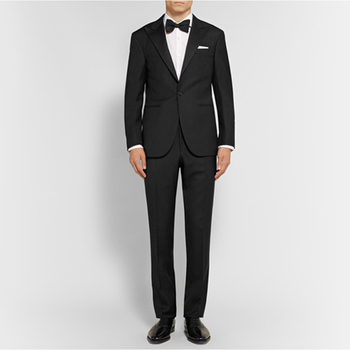Terno Masculino Vestidos Tuxedo One Button Closure Collar Three Pockets Evening Clothing Slim Fit Suits (jacket+pants+bow Tie)
