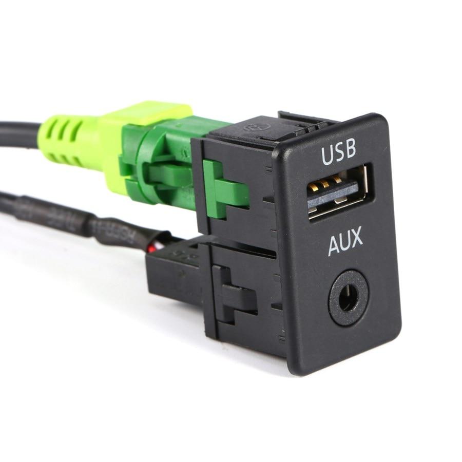 Coche-stylingAUX Interruptor USB Cable Para VW MK6 Para el Golf Jetta De CC Para