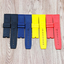 Watch accessories 22mm24mm letter silicone strap for Breitling watches men and women sports waterproof rubber strap(China)