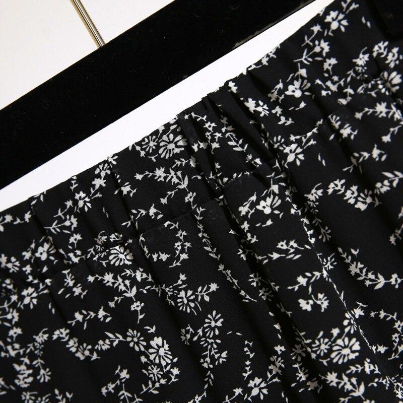 YICIYA floral chiffon skirt girl plus size ruffles women black whiter dot skirts summer midi Multi layered irregular print in Skirts from Women 39 s Clothing