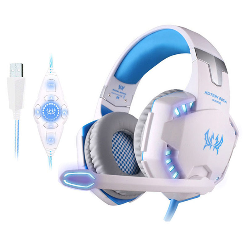 EACH Vibration Gaming Headset USB Surround Sound PC Headset Gamer 7 1 Gaming Headphone For Computer