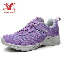 XIANGGUAN Women Cross-country Shoes 2017 Trail Running Shoes Cushioning Mesh Jogging Sneakers Antiskid Simple Shoes Gym Footwear