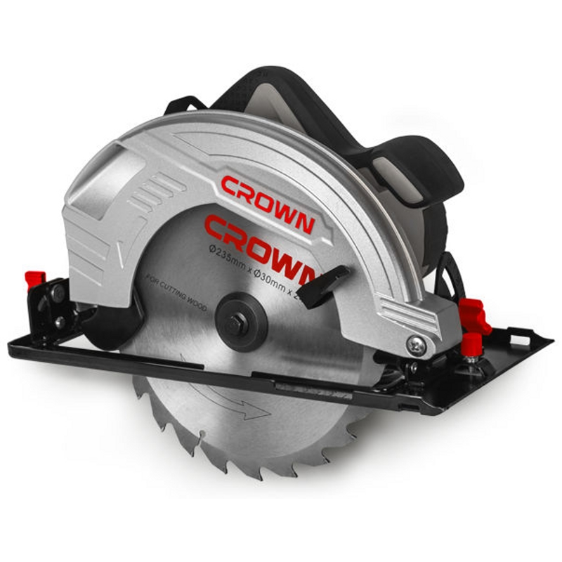 Saw circular CROWN CT15210-235 (Power 2000 W, no load speed 4500об/min, tilt 45 °) crown xls 2000