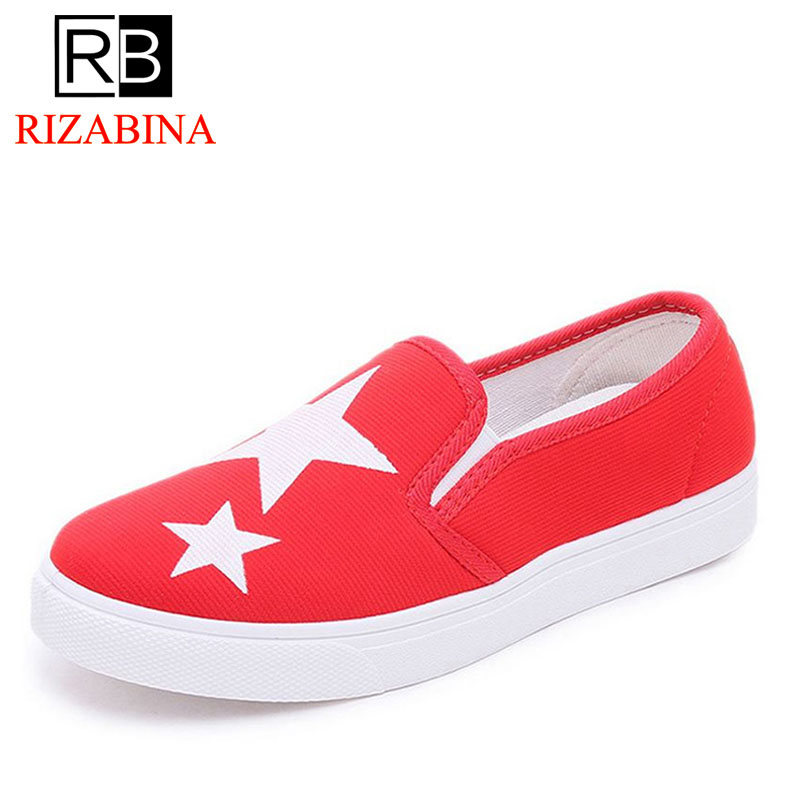 RizaBina Ladies canvas Shoes Fashion Tide Style Spring Summer Women Flat Shoes Slip on Breathable Women's Shoes Flats Size 35-40 2018 women summer slip on breathable flat shoes leisure female footwear fashion ladies canvas shoes women casual shoes hld919