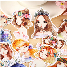 15pcs Creative Cute Self-made Forest girl / forest spirit Scrapbooking Stickers /Decorative Sticker /DIY Craft Photo Albums