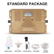 Dual Band 2 г 3 г сотовом телефоне усилитель сигнала 850/2100 мГц 70dBi усиления + логопериодической + потолок + адаптер + кабель