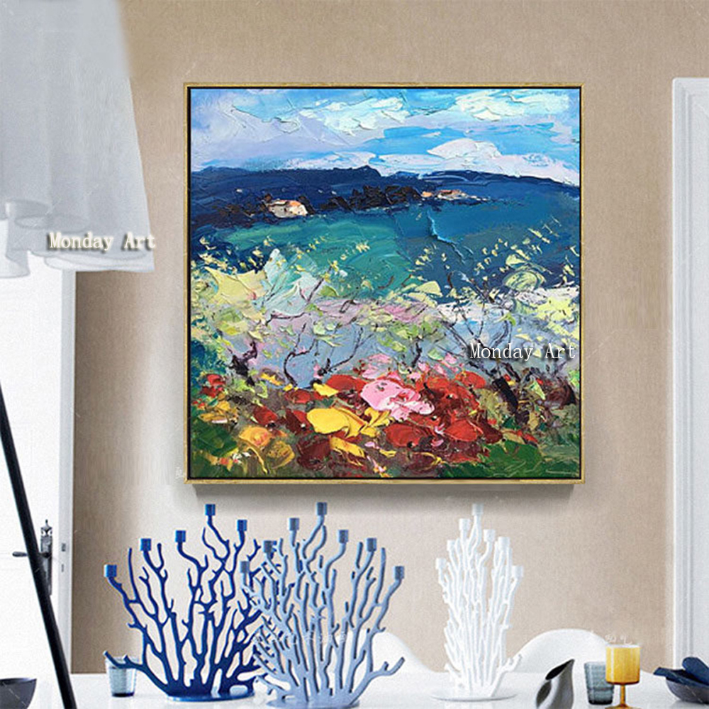 100-Hand-Painted-Abstract-Colorful-Scenery-Painting-On-Canvas-Wall-Art-Wall-Adornment-Picture-Painting-For (2)