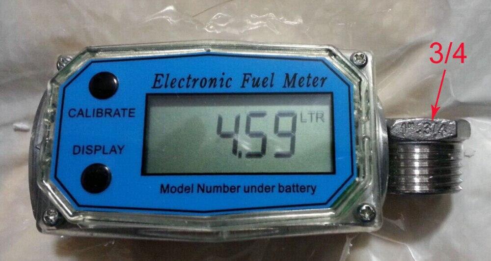 """300PSI 1.5/"""" 1.5 inches Digital Turbine Diesel Fuel Flow Meter Gauge BSPT//NPT"""