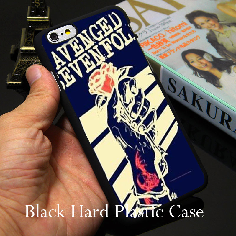 Avenged Seven Fold Black Phone Case for iPhone 5S 5 SE 5C 4 4S 6 6S 7 Plus Cover ( Soft TPU / Hard Plastic )