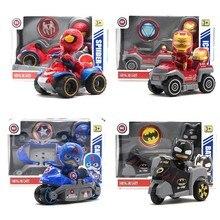 Marvel Avengers Spiderman Captain America Ironman Batman Action Figures Toy Mini Pull Back Car Toys For Children