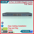 16 puerto 10/100 + 2 Giga rj45 + 2 Combo Gigabit Switch POE