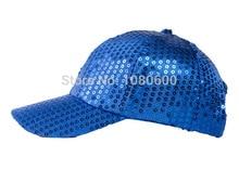 wholesale 2015 LGFC026 Summer bling paillette ladies's women  Stage Sequins hat baseball cap hiphop sunhat cap