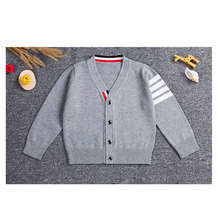 Boys girls sweater 2017 winter autumn fashion kids v-collar Knitwear children soft sweaters baby boy girl clothing tops
