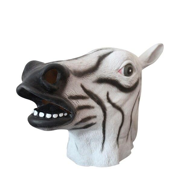 Latex Cheval Tête Pleine Masque Overhead Célébrer Halloween Creepy Partie  Accessoires Drôle Cosplay Costume Party Animal