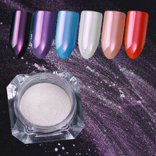 BORN PRETTY 0.2g Neon Unicorn Mermaid Nail Glitter Purple Mirror Powder Nail Art Chrome Pigment Manicure Decoration Accessory