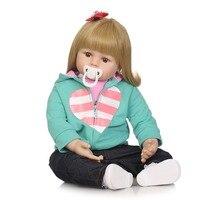 NPK реалистичные Мягкий красивый premmie силиконовые bebe 58 см reborn baby Игровой дом игрушки для детей Рождественский подарок популярные игрушки
