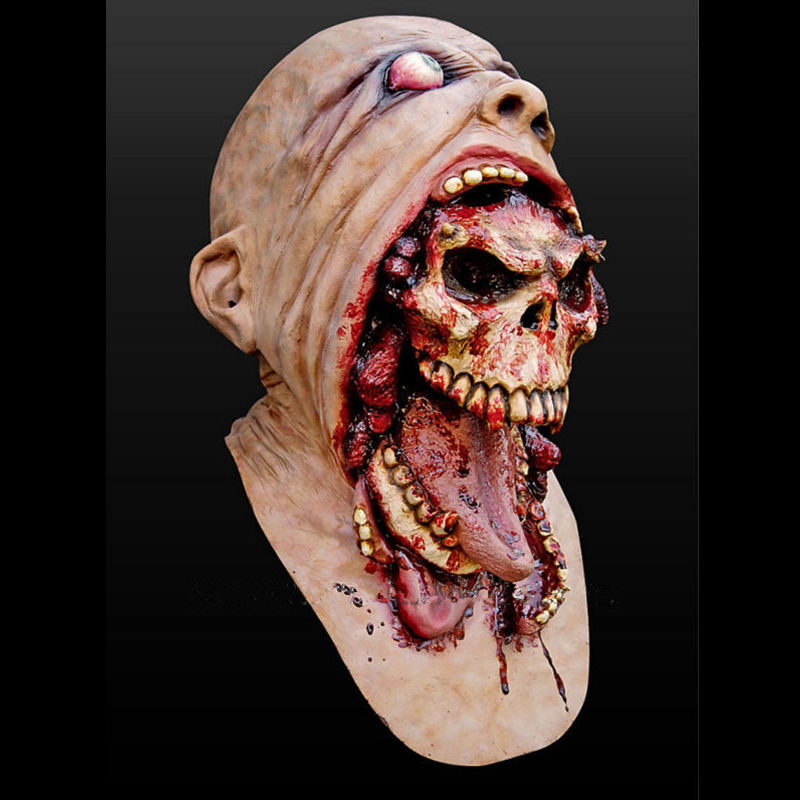 demon parasite zombie mask latex accoutrements vampire skull party halloween scary terror masks horror mascaras latex - Creepy Masks For Halloween