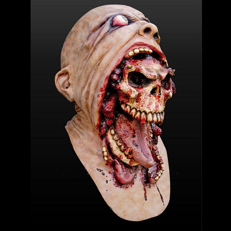 Demon Parasite Zombie mask Latex Accoutrements Vampire Skull party Halloween scary terror masks horror mascaras latex realista