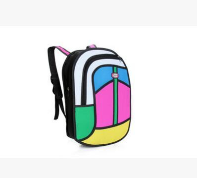 Fashion Patchwork 2D Bags Novelty Back To School Bag 3D Drawing Cartoon Comic Handbag Lady Shoulder Bag Messenger Colorful Gifts