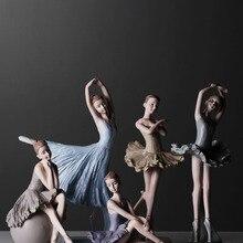 Hot Sell Ballerina girl dance resin statue elegant figure cr