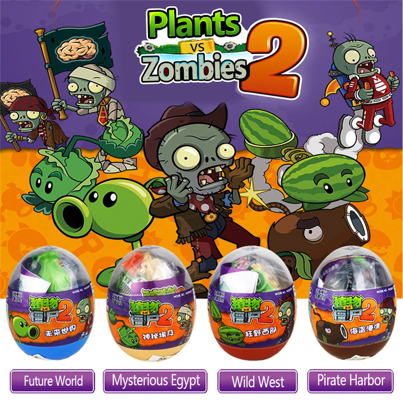 4 Styles 9cm PVC Plants vs Zombies Peashooter Action Figure Model Egg Stuffed Plush Funny Shoot Toy Gifts For Children Baby Toys 40pcs set plants vs zombies toys anime pvz pvc action figure 3 8cm collection model figma kids toy for boys girls birthday gifts
