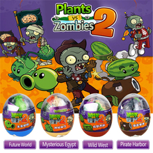 4 Styles 9cm PVC Plants vs Zombies Peashooter Action Figure Model Egg Stuffed Plush Funny Shoot Toy Gifts For Children Baby Toys