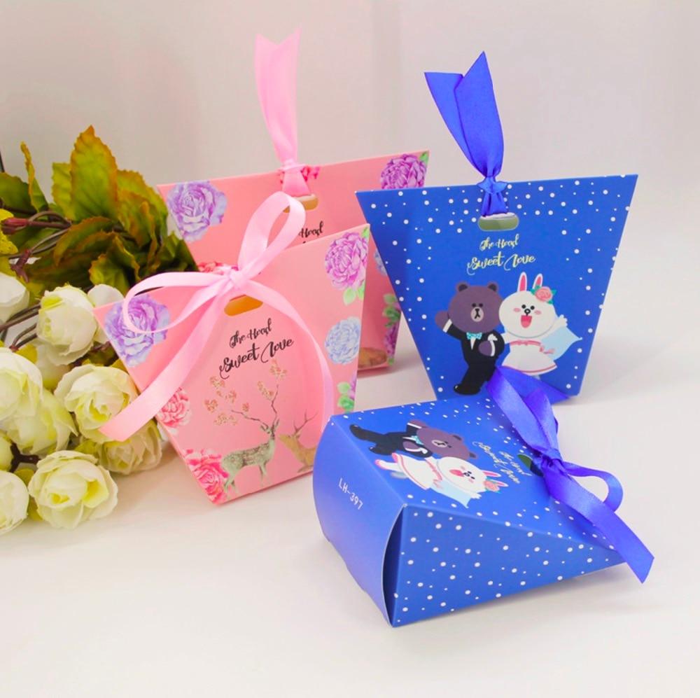 100pcs New European Wedding Favors cartoon bear Bride & Groom Candy ...