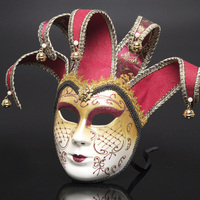 Jester Joker Party Mask Venice Masks Party Supplies Masquerade Mask Christmas Halloween Venetian Costumes Carnival Anonymous Mas