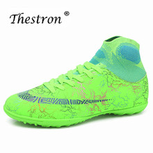 Thestron Soccer Indoor Shoes Designer Young Boy Sneakers Sock Mens Women High Top Boots Orange Shoe for Kids