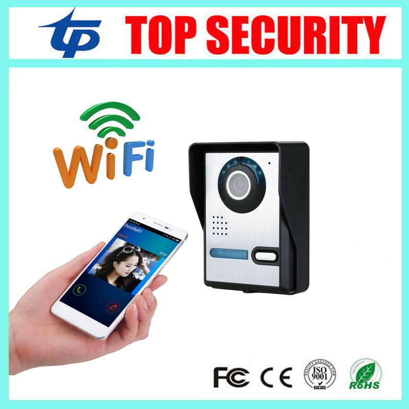 New arrived remote control mobile control WIFI TCP video door phone IR nigh version IP65 waterproof wireless video door phone стоимость