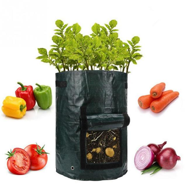 2 Pcs 50L Planting PE Bags Cultivation Garden Pots Planters Vegetable Fruit Potato anti-aging Grow Bags Farm Home Garden Tools 1