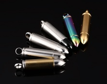 Stainless Steel Bullet Necklace Pendant